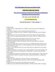 GEN 300 Student Web Scavenger Hunt/Tutorialrank