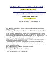 GEO 155 Week 2 Assignment Colonial Geography Report/Tutorialrank