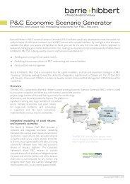 Property & Casualty ESG Fact Sheet - Barrie & Hibbert