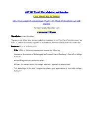 ART 101 Week 2 CheckPoint Art and Intention/art101dotcom