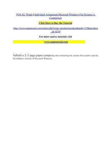 POS 420 UOP Course Tutorial/Shoptutorial
