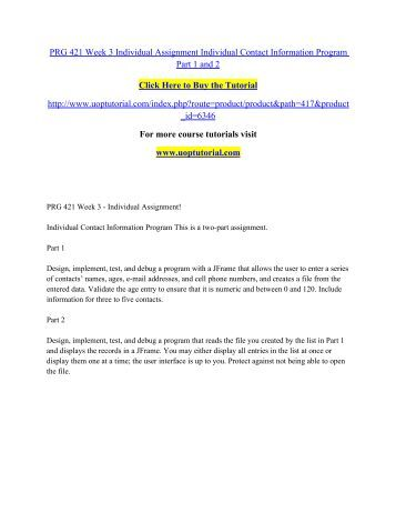individual salesperson java application part ii assignment