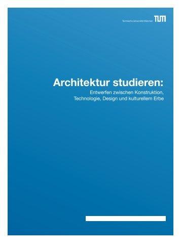 Noch Fragen? - Fakultät für Architektur - TUM