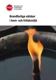 Brandfarliga vätskor i hem- och fritidsmiljö