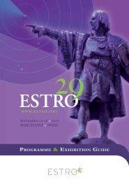 September 12-16 < 2010 BaRcElOna < Spain ... - Estro-events.org