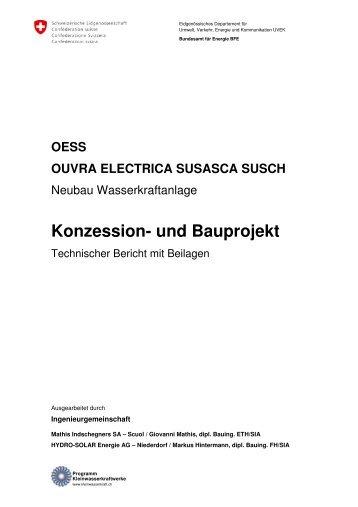 Konzession- und Bauprojekt - HYDRO-SOLAR Engineering AG