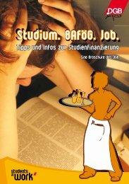 Studium. BAföG. Job. - Hochschulinformationsbüro Hannover