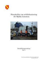 Föreskrifter om avfallshantering för Mjölby kommun
