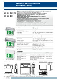LED-Self-Contained Luminaire Brillant LED CGLine