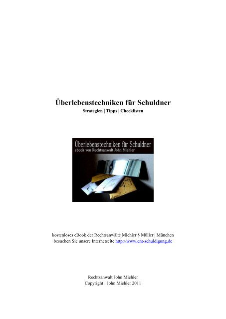 Uberlebenstechniken Fur Schuldner Schuldnerberatung Munchen