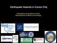Earthquake Hazards in Carson City - Nevada Bureau of Mines and ...