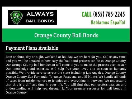 Bail Bonds Redondo Beach