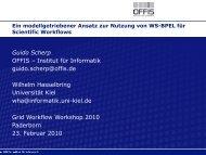 Scientific Workflows - OFFIS - Institut für Informatik