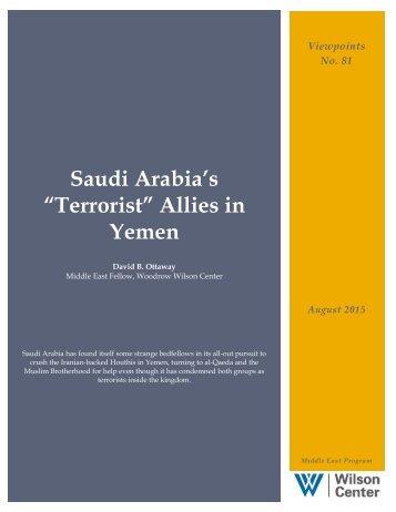 """""""Terrorist"""" Allies in Yemen"""