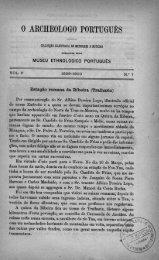 O AROHEOLOGO PORTUGUES - Bibliotecas da Direção-Geral do ...