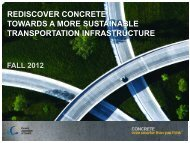 REDISCOVER CONCRETE TOWARDS A MORE SUSTAINABLE TRANSPORTATION INFRASTRUCTURE