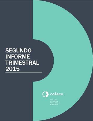 SEGUNDO INFORME TRIMESTRAL 2015