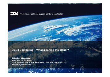 Cloud Computing – What's behind the cloud ?