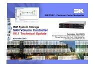 SAN Volume Controller V6.1 Technical Update