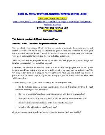 BSHS 452 EDU Perfect Education-bshs452edu.com
