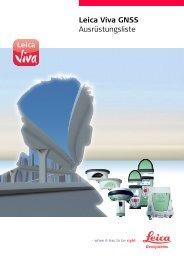 Leica Viva GNSS Ausrüstungsliste - Leica Geosystems