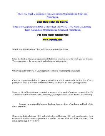 HM 322 Course Tutorial/snaptutorial