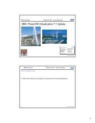 IBM i PowerVM Virtualization 7.1 Update