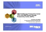 (TPC) and IBM System Storage Productivity Center - Common ...