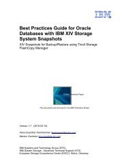 Best Practices Guide for Oracle Databases with IBM XIV Storage System Snapshots