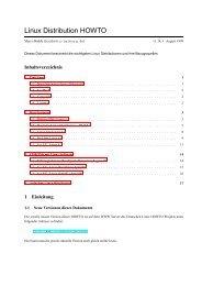 Linux Distribution HOWTO - Vefa-online.de