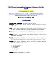 BIS 375 week 2 Learning Team Assignment E-Commerce Web Site Analysis/bis375dotcom