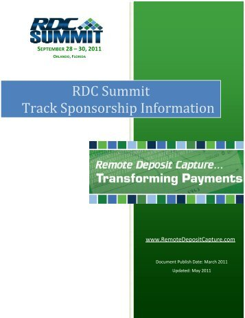 RDC Summit Track Sponsorship Information