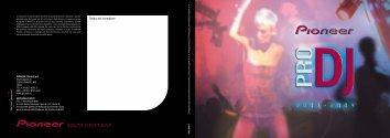 Pioneer Pro DJ Line-up 2003-2004