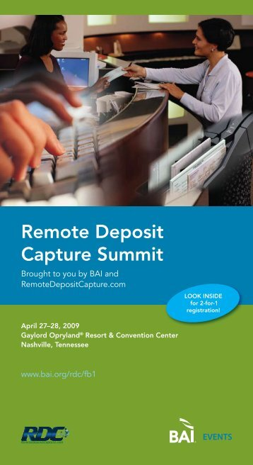 remote Deposit capture summit - RemoteDepositCapture.com