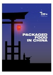 PACKAGED FOOD IN CHINA - CB'a