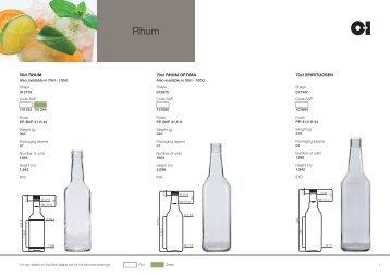 European Rhum Products Catalogue