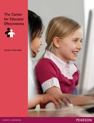 The Center for Educator Effectiveness