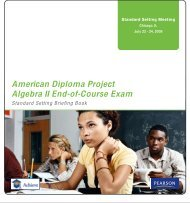 American Diploma Project Algebra II End-of-Course Exam