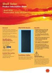 Shell ST20 Photovoltaic Solar Module