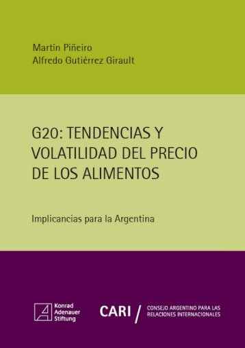 G20 tendencias y volatilidad del precio de los alimentos
