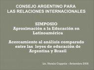 leyes de educacion argentina - brasil - Consejo Argentino para las ...