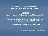 Derecho de enseñar y aprender - Consejo Argentino para las ...