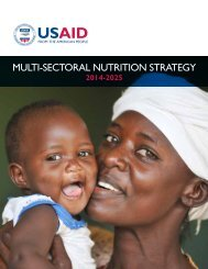MULTI-SECTORAL NUTRITION STRATEGY