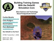 Building Training Games With the Delta3D Simulation Core Alion ...
