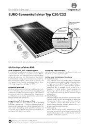 EURO-Sonnenkollektor Typ C20/C22