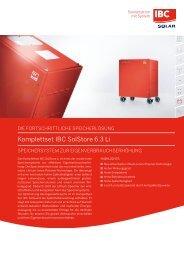 Komplettset IBC SolStore 6.3 Li - IBC Solar AG