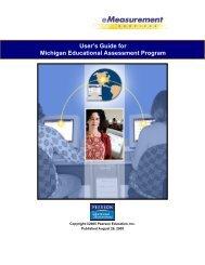 User's Guide for Michigan Educational Assessment Program
