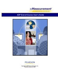ADP End-of-Course User's Guide - NCS Pearson eMeasurement ...