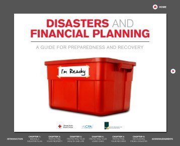DISASTERS AND FINANCIAL PLANNING