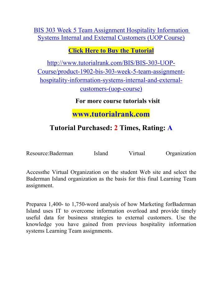 bis 303 week 5 assignment 2 Bis 303 week 5 dq 2 click below url to buy course tutorial.